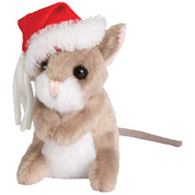 Douglas Toys - CHRISTMAS MOUSE W/HAT