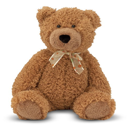 Melissa and Doug Big Frizz Teddy Bear Stuffed Animal