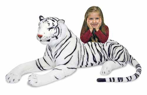 Melissa and Doug - White Tiger Giant Stuffed Animal