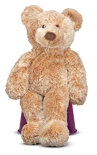 Melissa and Doug - Nutmeg Teddy Bear Stuffed Animal