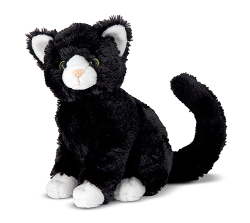 Melissa and Doug Midnight Black Cat Stuffed Animal