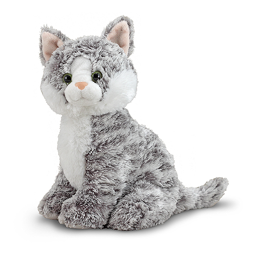 Melissa and Doug Greycie Tabby Cat Stuffed Animal