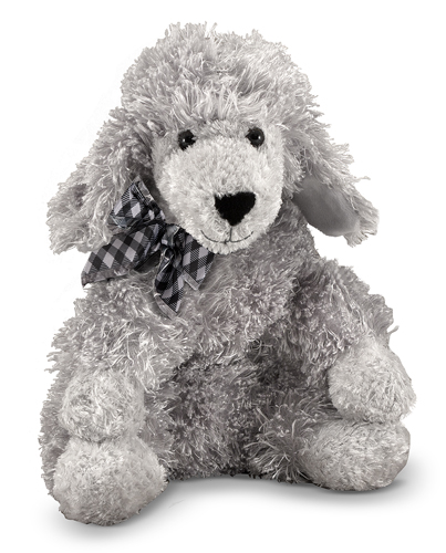 Melissa and Doug Curley Grey Poodle Puppy Dog Stuffed Animal