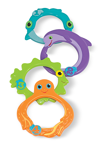 Melissa and Doug Maritime Mates Sink & Seek Rings Pool Toys