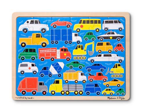 Melissa and Doug - Beep Beep Wooden Jigsaw Puzzle - 24 Pieces