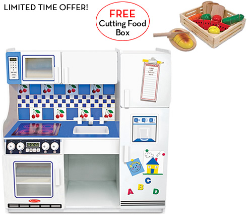 Melissa and Doug Deluxe Kitchen with FREE Cutting Food Box