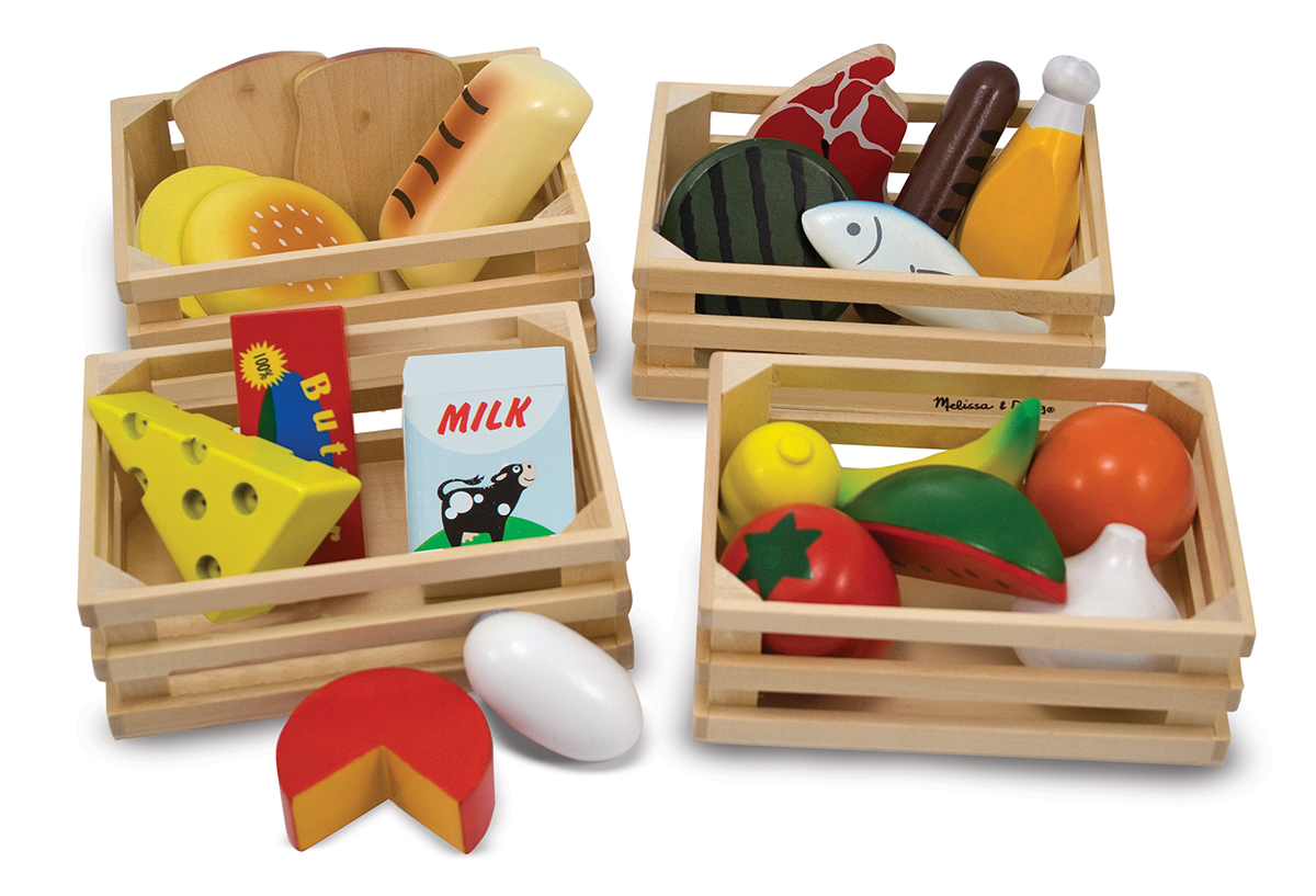Melissa and Doug - Food Groups - Wooden Play Food
