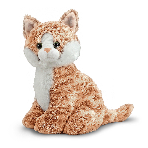 Melissa and Doug Pumpkin Tabby Cat Stuffed Animal