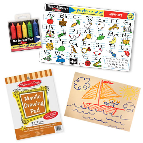 Melissa and Doug Kids Coloring Set with FREE Manila Pad
