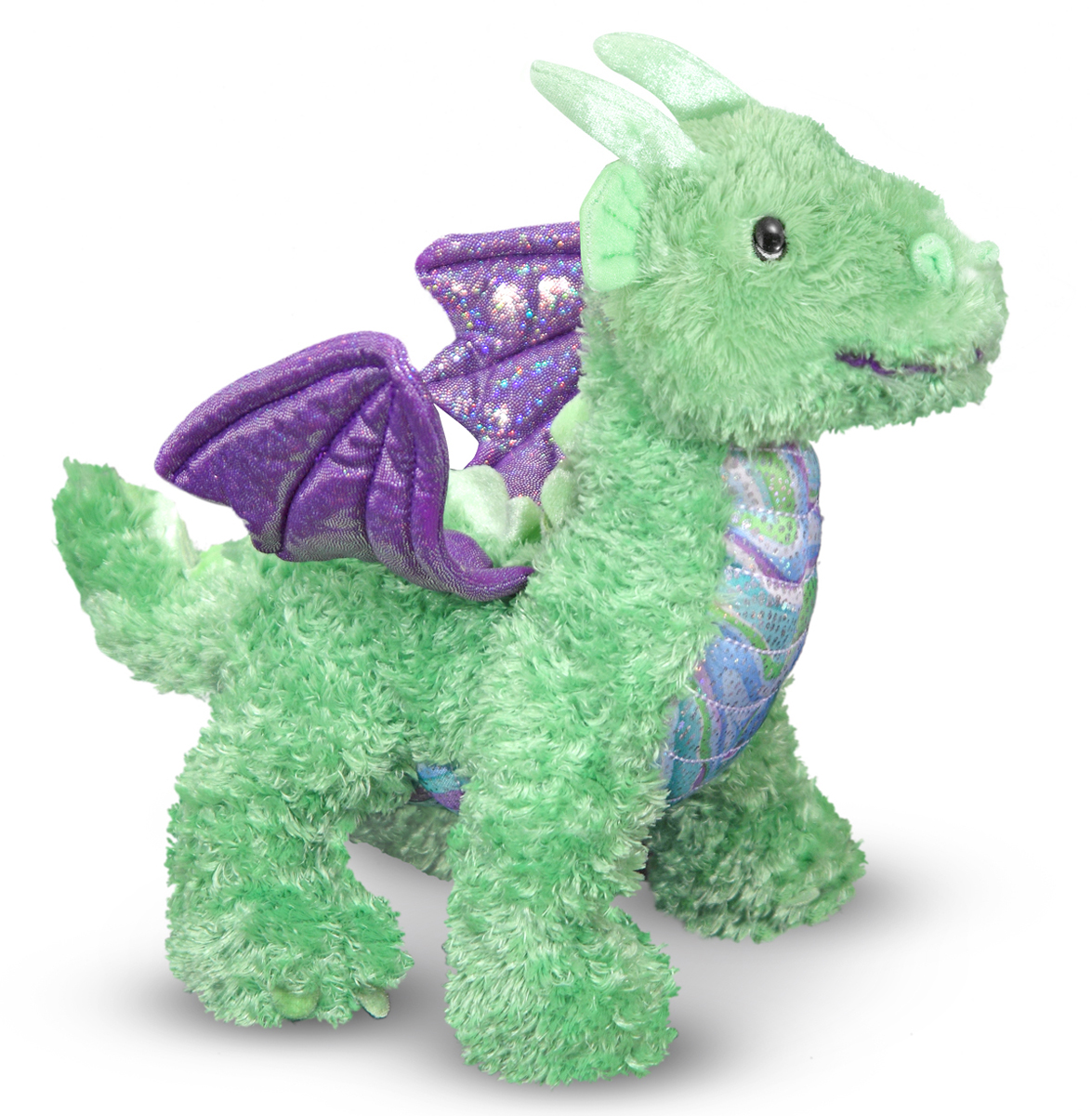 Melissa and Doug - Zephyr Green Dragon Stuffed Animal