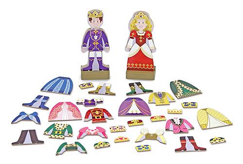 Melissa and Doug Prince & Princess Magnetic Dress-Up Set