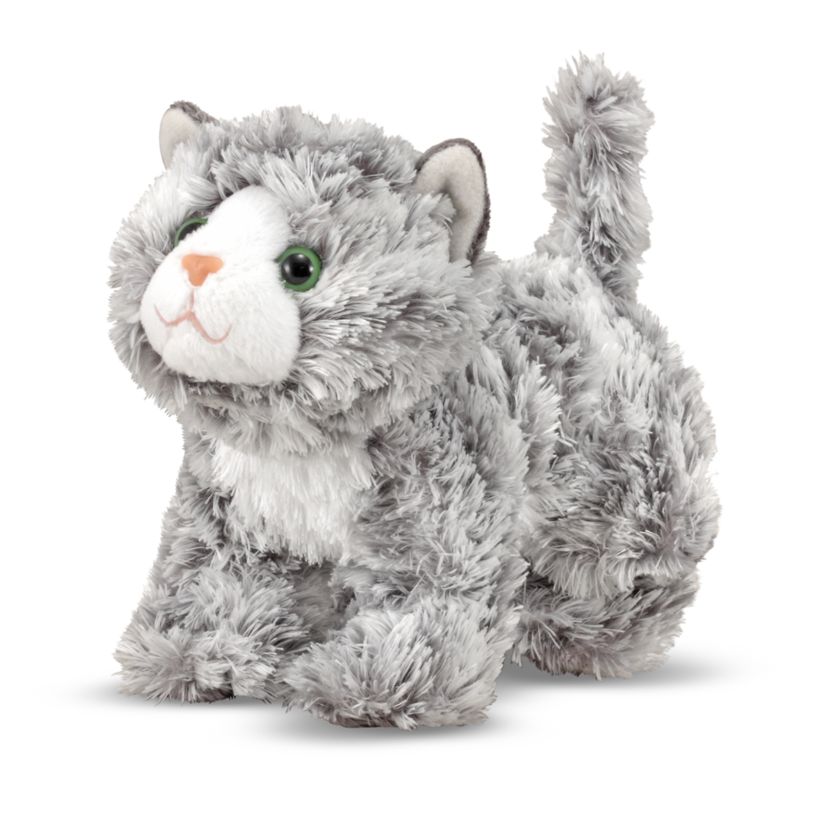 Melissa and Doug Roxie Grey Tabby Kitten Stuffed Animal