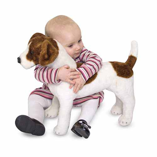 Melissa and Doug Jack Russell Terrier Dog Giant Stuffed Animal